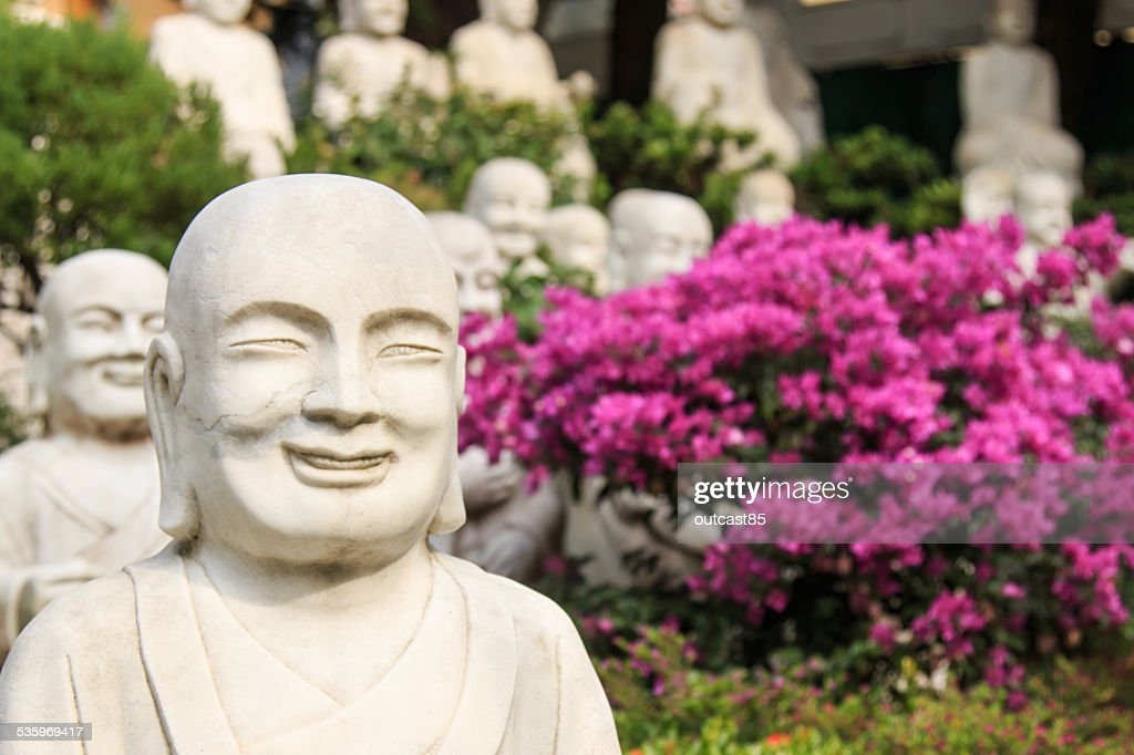 Hand carved Buddha at the entrance of Fo Guang Shan. : Stock Photo
