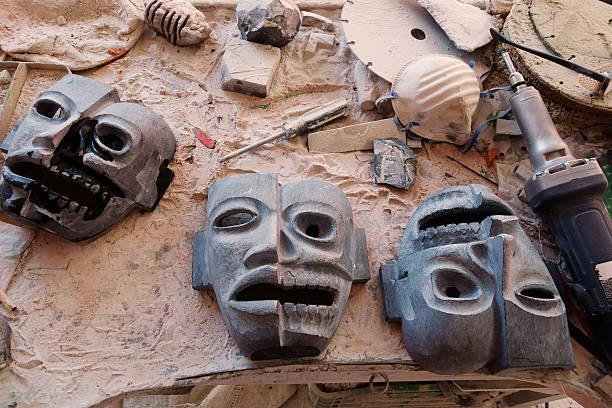 Hand carved masks