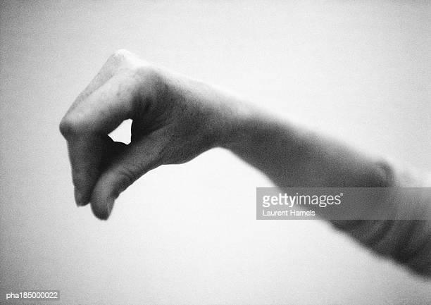 Hand, close-up, b&w