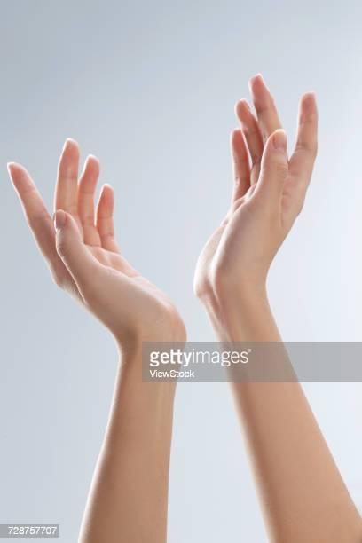 hand close-up - 人体部位 ストックフォトと画像