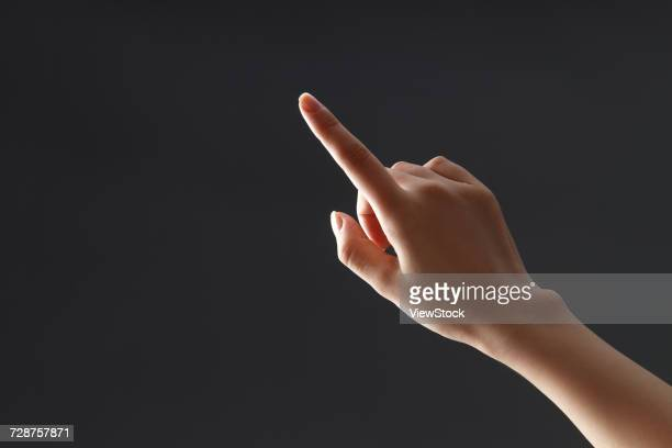 hand close-up - index finger stock pictures, royalty-free photos & images