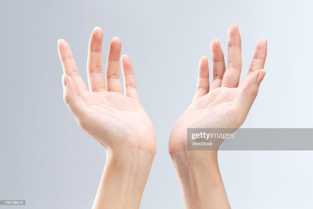 Hand close-up : Stock Photo