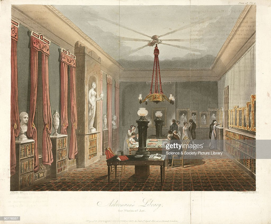 Ackermann S Library For Works Of Art 1813 Pictures Getty Images # Augustus Pugin Muebles