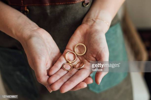 hand created rings - femalefocuscollection stock pictures, royalty-free photos & images