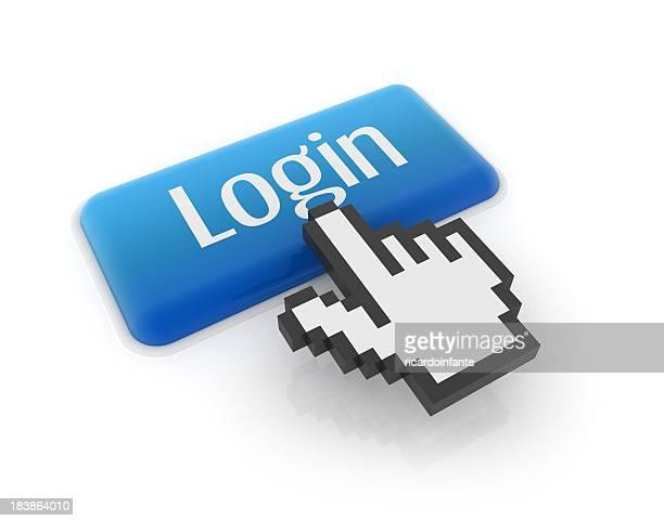 """Hand-cursor auf die Schaltfläche """"login"""""""