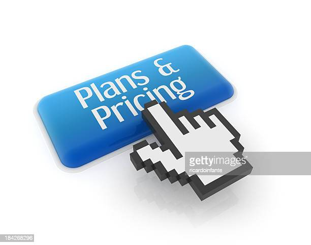 Hand cursor on plans & pricing button