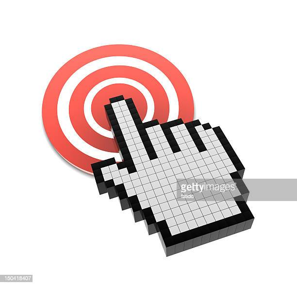 hand cursor on target - cursor stock pictures, royalty-free photos & images