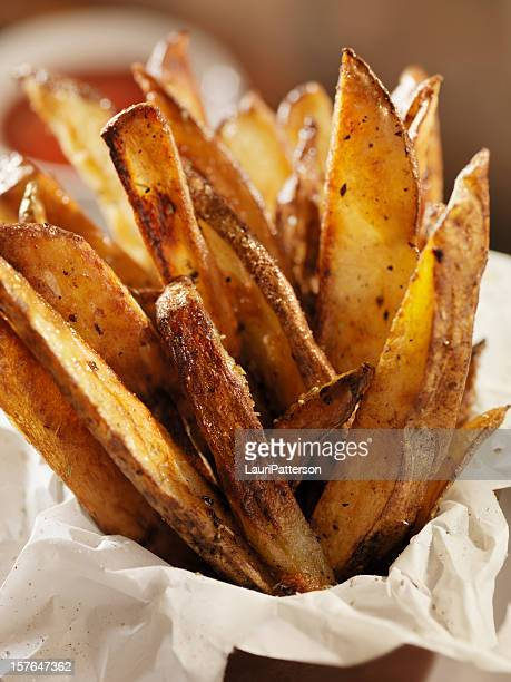 Hand Cut Oven Roasted French Fries with Ketchup