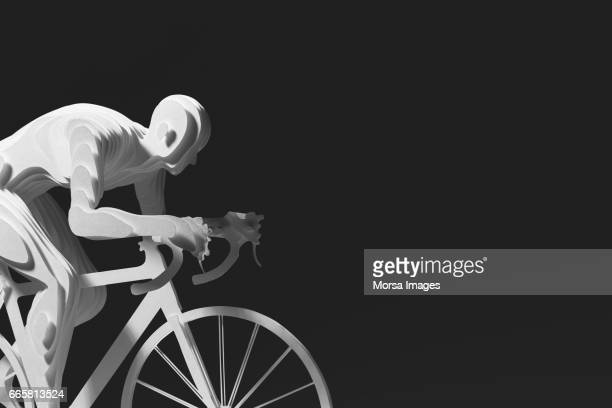 hand cut paper figure of a cyclist - road cycling stock pictures, royalty-free photos & images