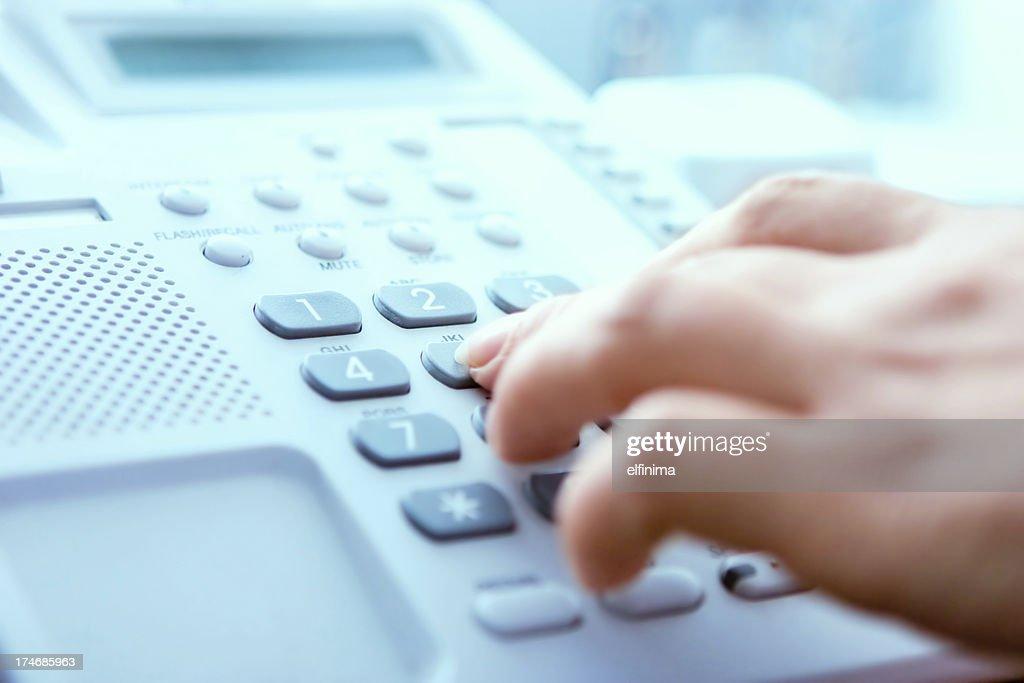 Telefonnummer wählen : Stock-Foto