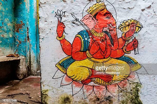 Hand drawn representation of god Ganesh