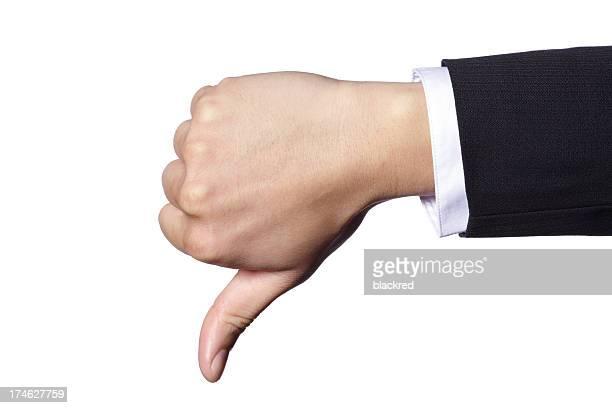Hand Geste Daumen nach unten