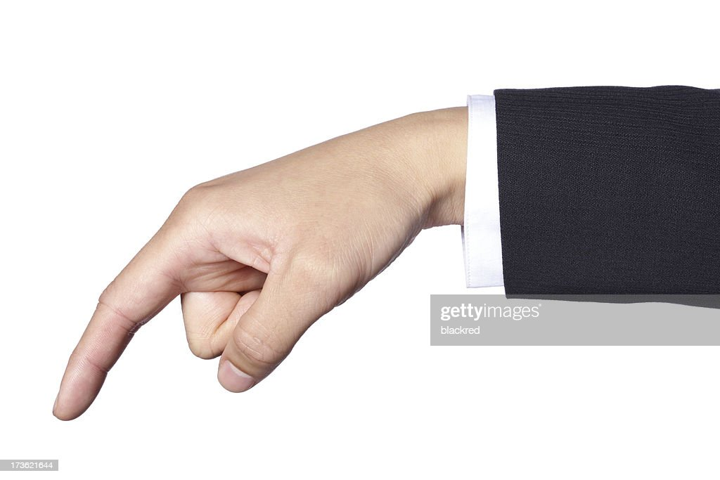 Hand Gesture - Touching : Stock Photo