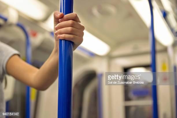 Hand grabbed to the underground bar