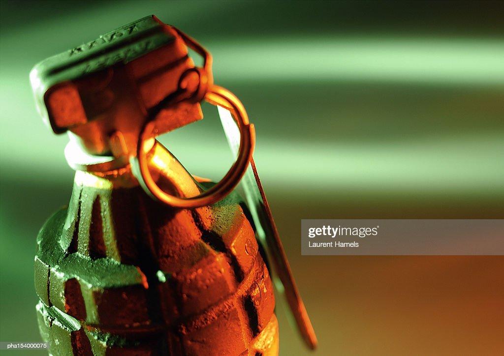 Hand grenade, close-up. : Stockfoto