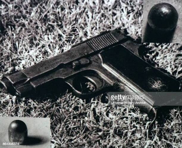 Hand gun used in the assassination of Mohandas Karamchand Gandhi in 1948 Gandhi was the preeminent leader of the Indian independence movement in...