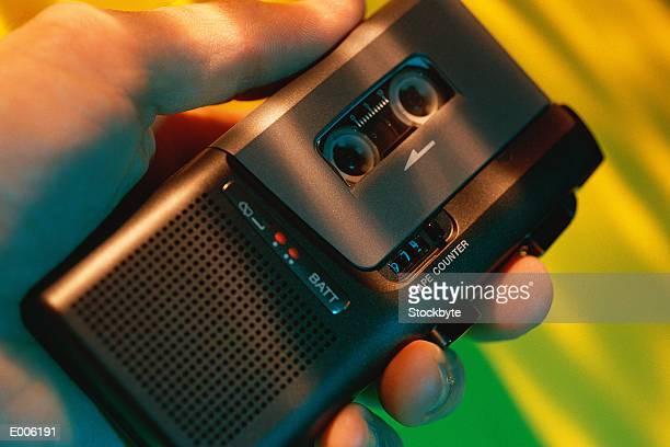 Hand held cassette recorder