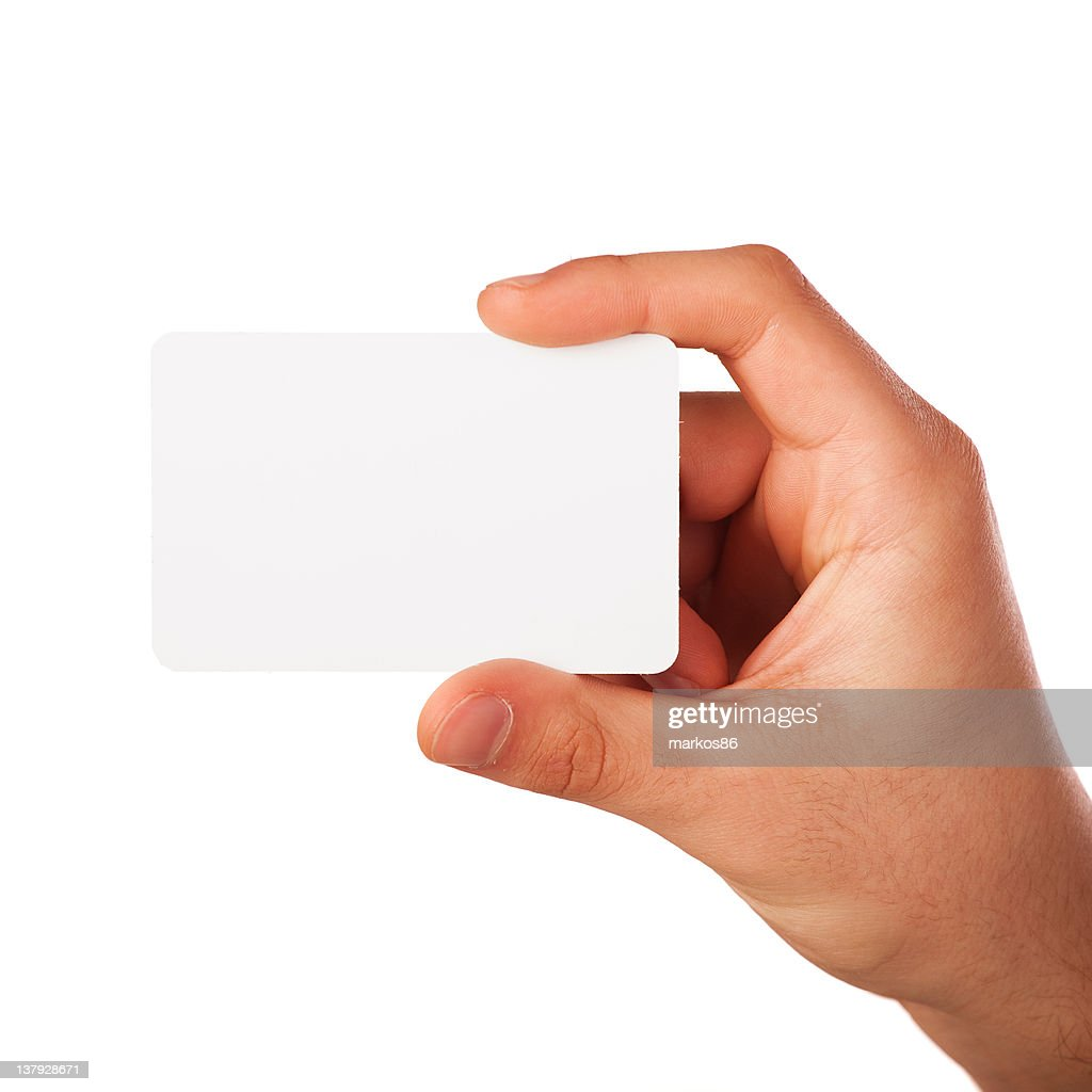 Hand Holding A Blank Business Card Stock Photo | Getty Images