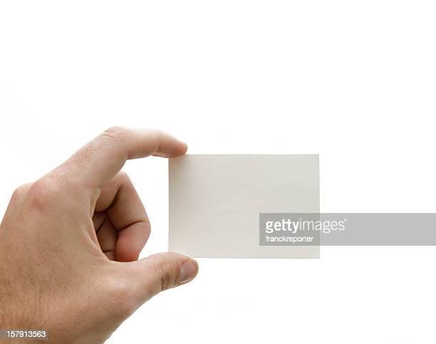 ハンド保持ビジネスホワイトのカード