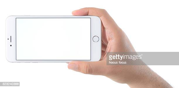 Hand holding blank screen iPhone 6 Plus