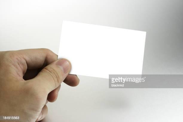 Hand, die Visitenkarte