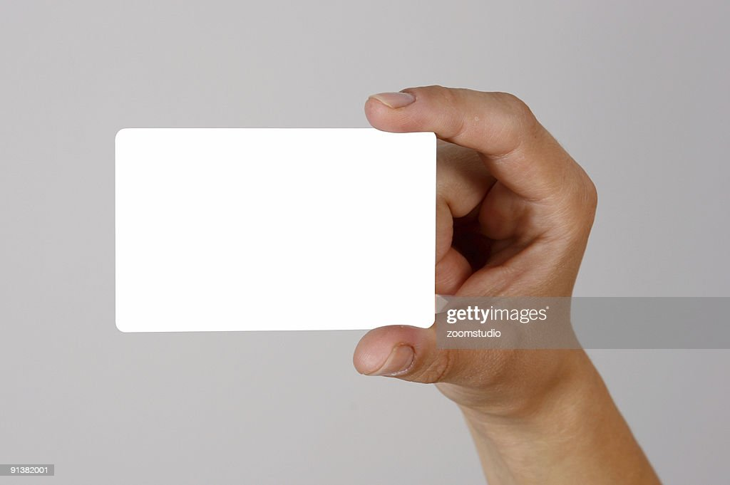 Hand Holding Business Card Stock Photo | Getty Images