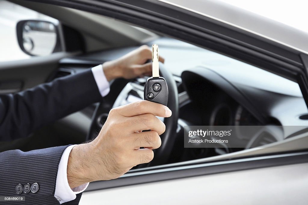 Hand Holding Car Key Car Sale Rental Concept Stock Photo Getty Images