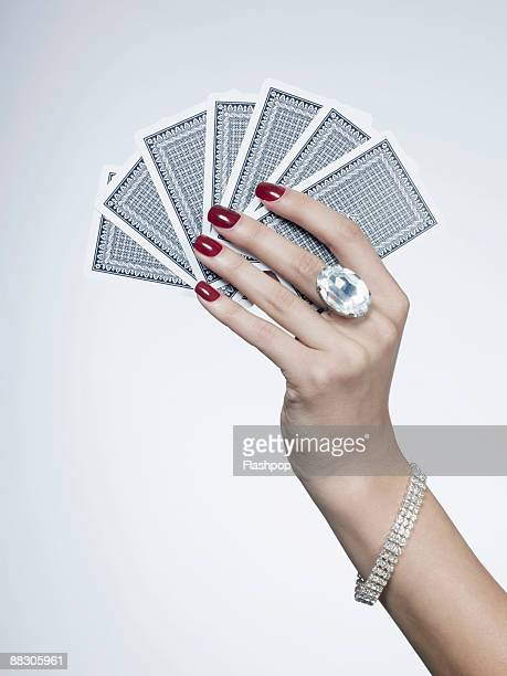 Hand holding cards