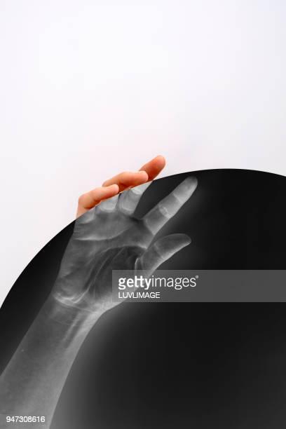 Hand Holding Circle.