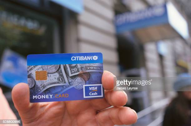 Hand Holding Citibank Bank Card