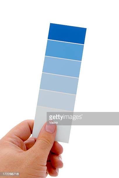 hand holding color swatch - color swatch stock pictures, royalty-free photos & images