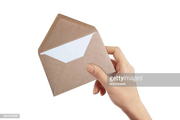 Hand Holding Envelope And Letter