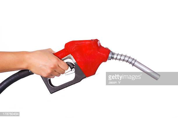 Hand holding gas pump Profile