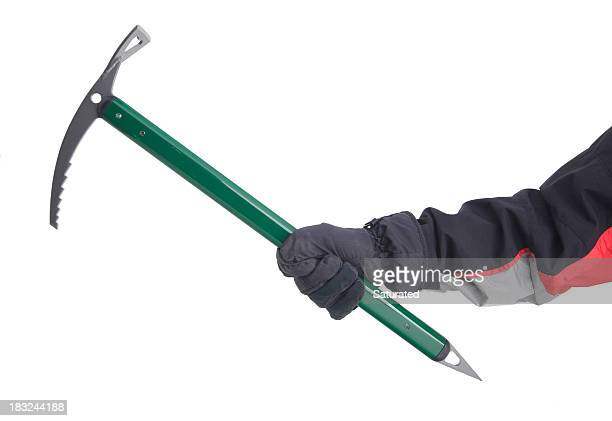 Hand Holding Ice Axe (Isolated)