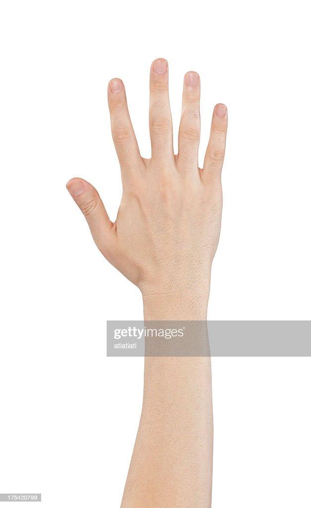 Isolierte hand, Nummer 5 : Stock-Foto