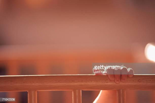 hand holding railing