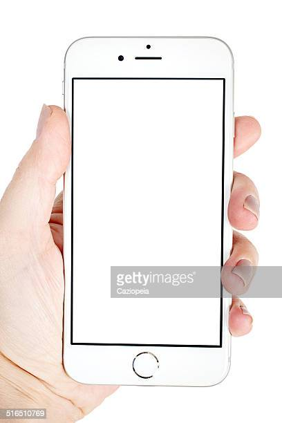 Hand Holding Silver iPhone 6