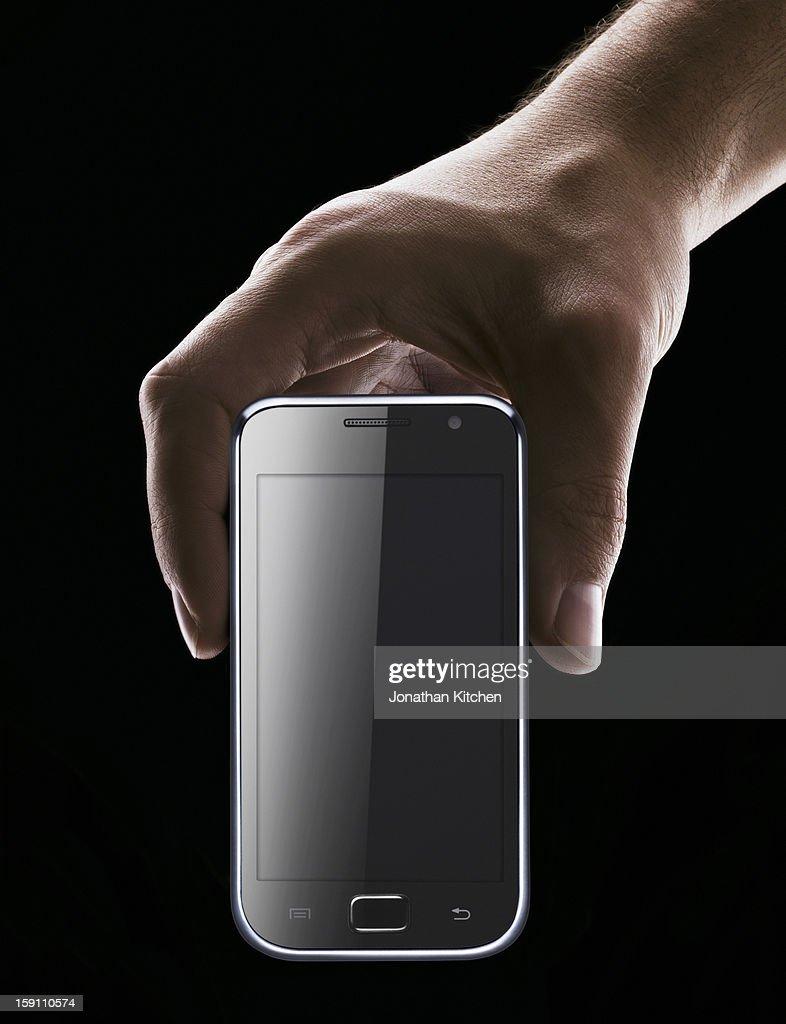 Hand Holding Smartphone : Stock Photo