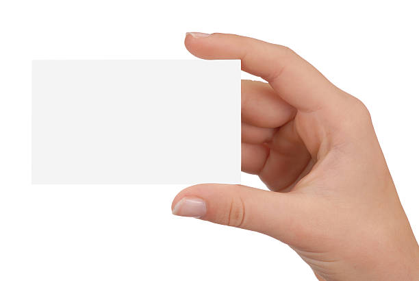 Free hand holding business card images pictures and royalty free a hand holding up a blank white business card colourmoves