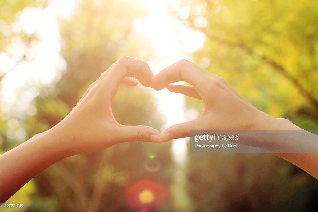 Hand in hand be a heart : Stock Photo