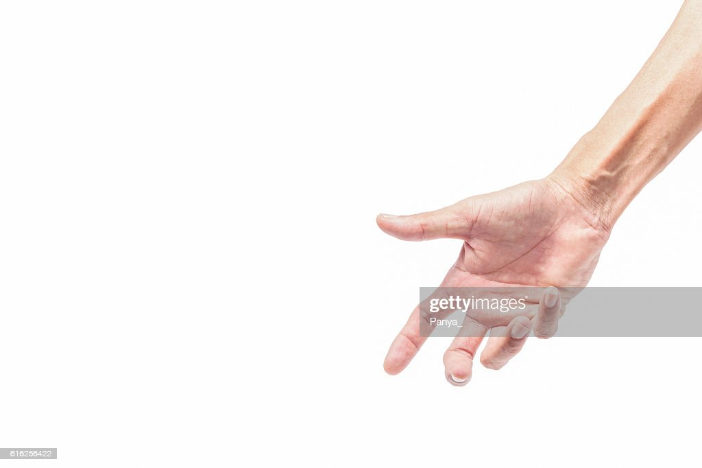 hand isolated on white background. : Stock Photo