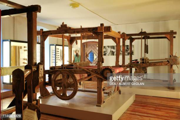 Hand loom weavers Ethnographic Museum San Michele all'Adige TrentinoAlto Adige Italy
