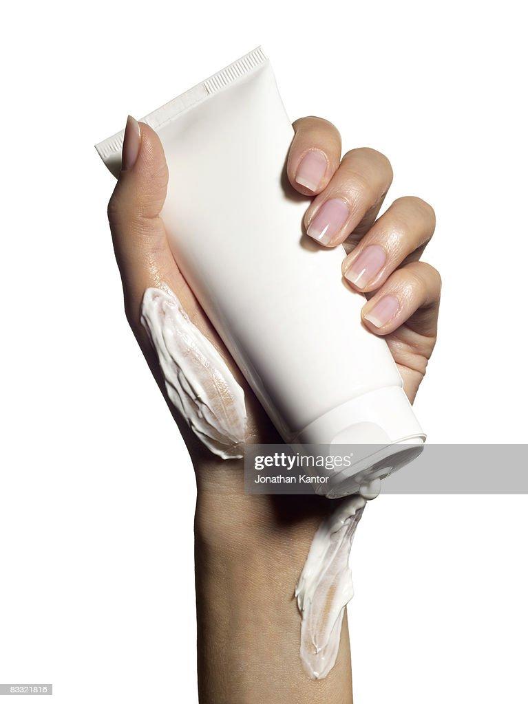 Hand lotion : Stock Photo
