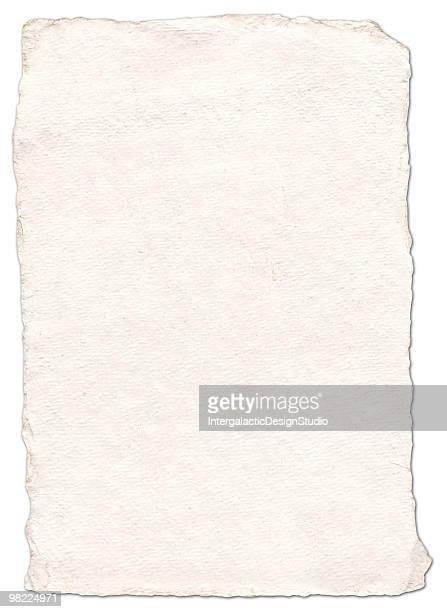 Handgemachte Papier (Mit Clipping Path