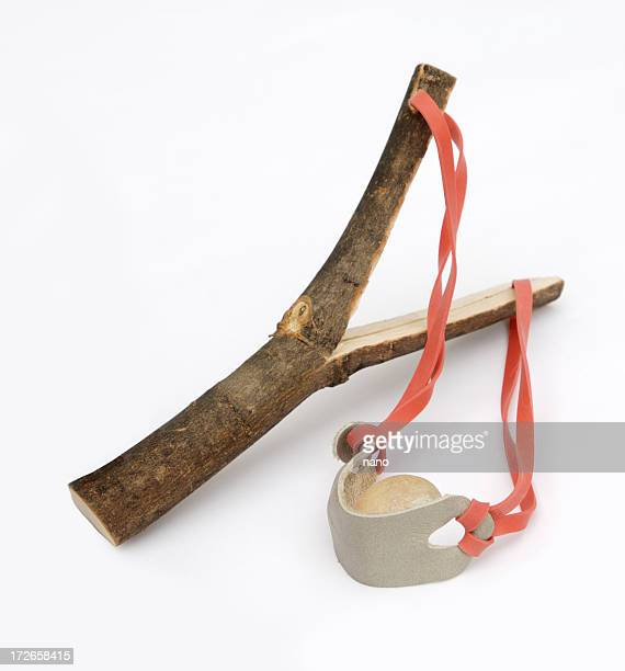 A hand made wooden empty slingshot