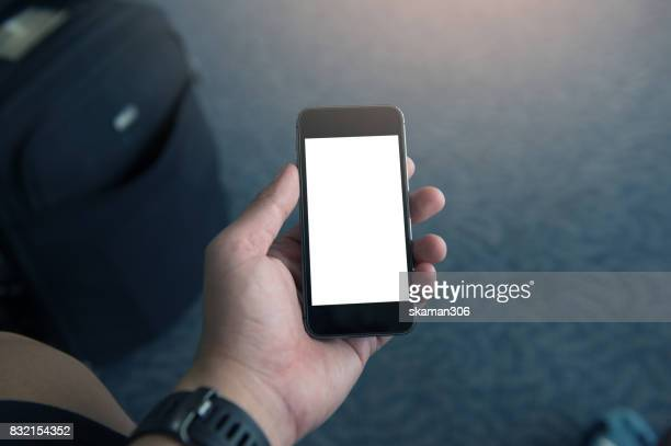 hand of a lover holding smart-phone
