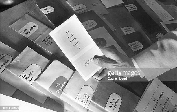 AUG 20 1967 AUG 21 1967 Hand of Alcoholics Anonymous Member Points to Available Literature Colorado group ended seventh annual convention at the...