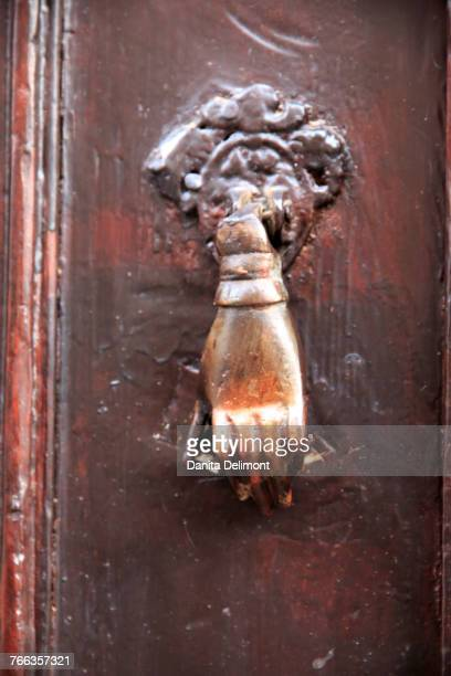 Hand of Fatima door knocker, Aspendos, Anatolia, Turkey