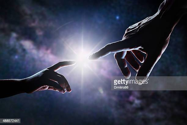 hand of god - god stock pictures, royalty-free photos & images
