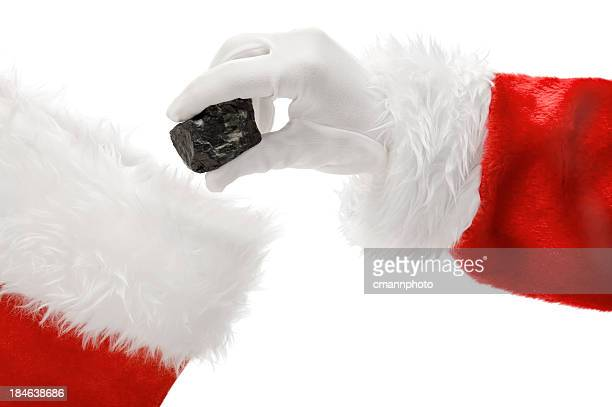 hand of santa claus - naughty santa stock photos and pictures